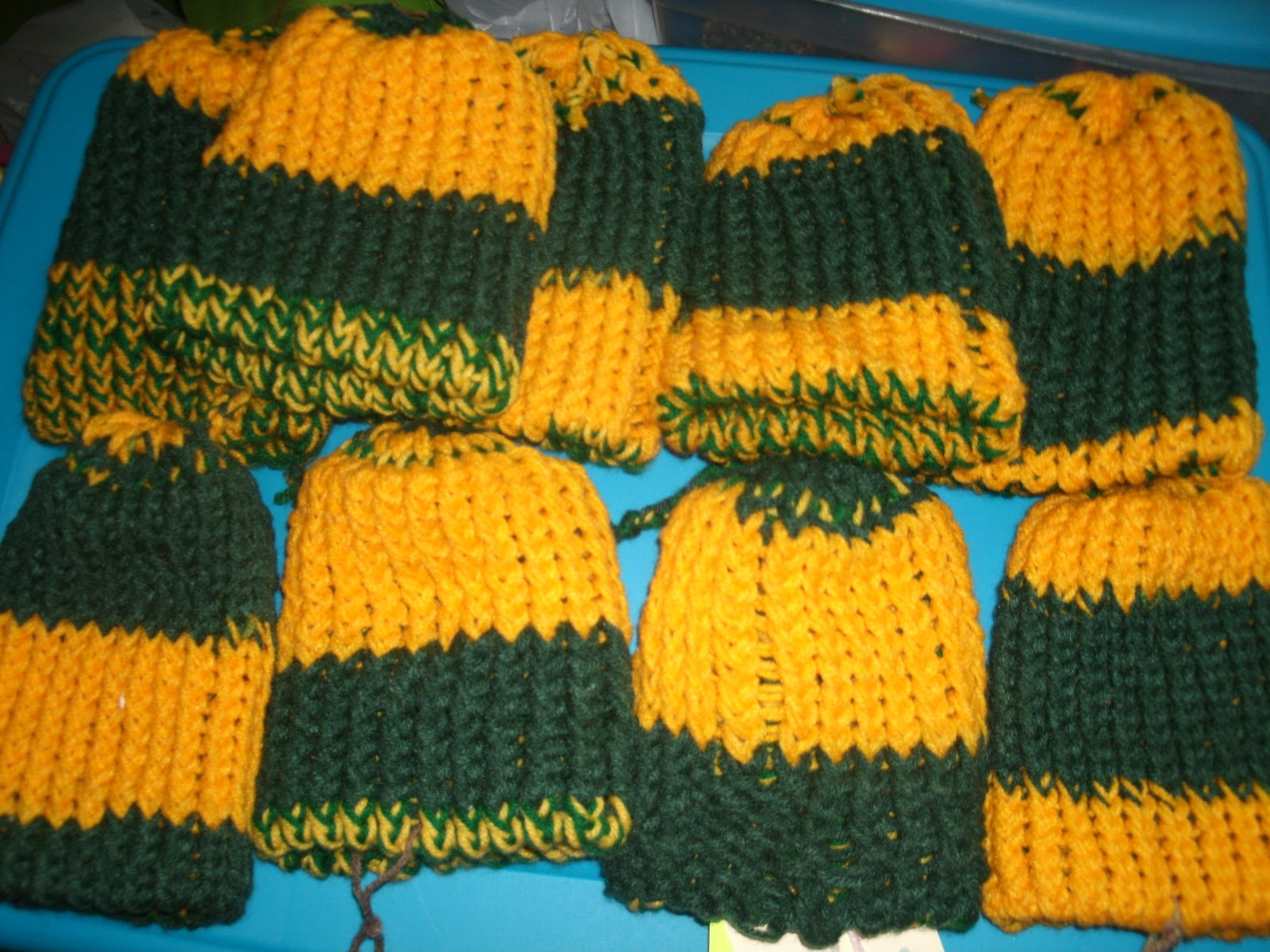 Iris Loom Knit Crochet For Poor People Green Bay Packers Color