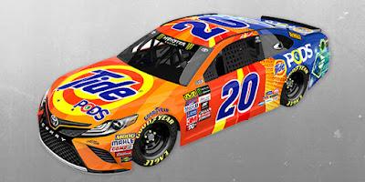 Matt Kenseth's No. 20 Tide PODS Toyota Camry #NASCAR