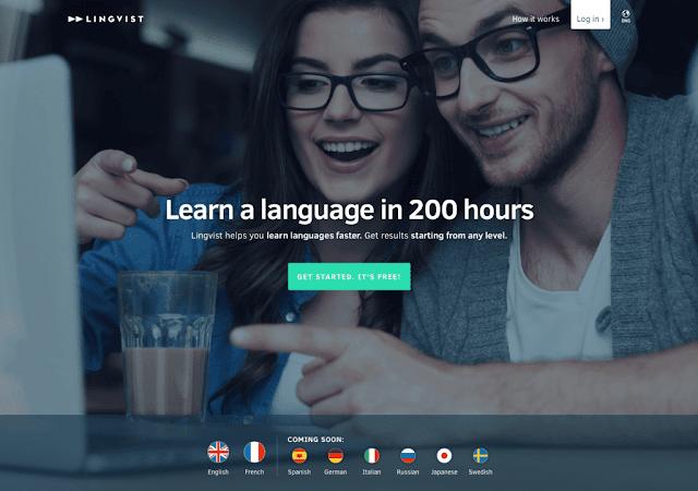 موقع تعليم إنجليزية lingvist  لينج فيست