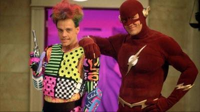 The Flash (1990), Trickster (Mark Hamil) y Flash (John Wesley Shipp).