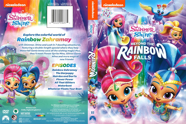 Shimmer and Shine Beyond the Rainbow Falls DVD Cover