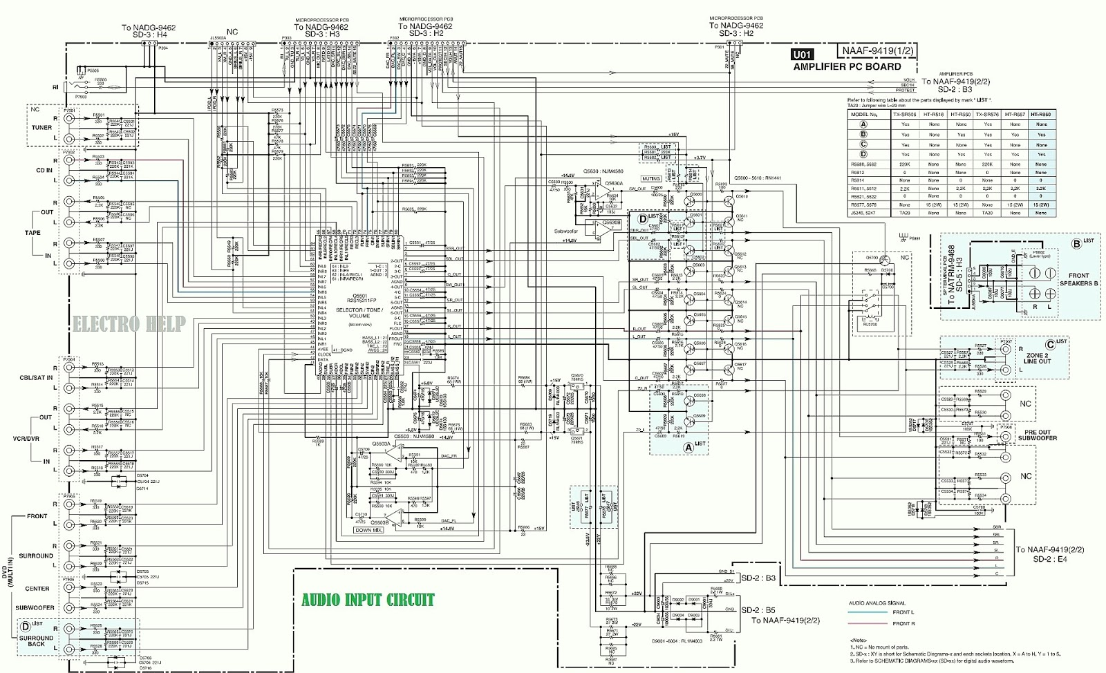 7 1 home theater circuit diagram dodge ram oem parts onkyo ht r960 channel htr