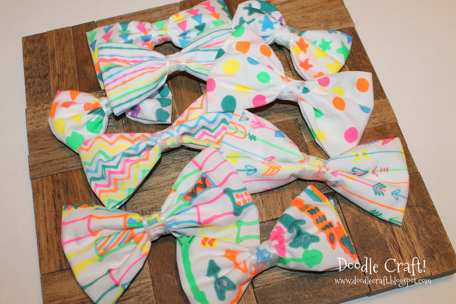 Doodlecraft neon sharpie hair bows hot glue gun week for Arts and crafts for 10 year old girls