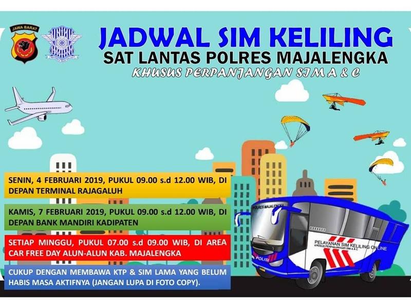 SIM Keliling Majalengka Februari 2019 - IGsatlantas_mjlk