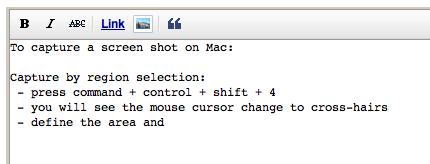 Capture Screen Shot on Mac