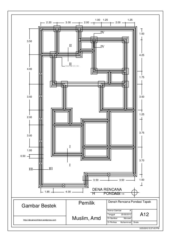 DENAH RENCANA PONDASI PADA BANGUNAN Jurnal Arsitektur