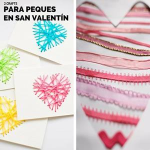 kids crafts - tarjetas para san valentín