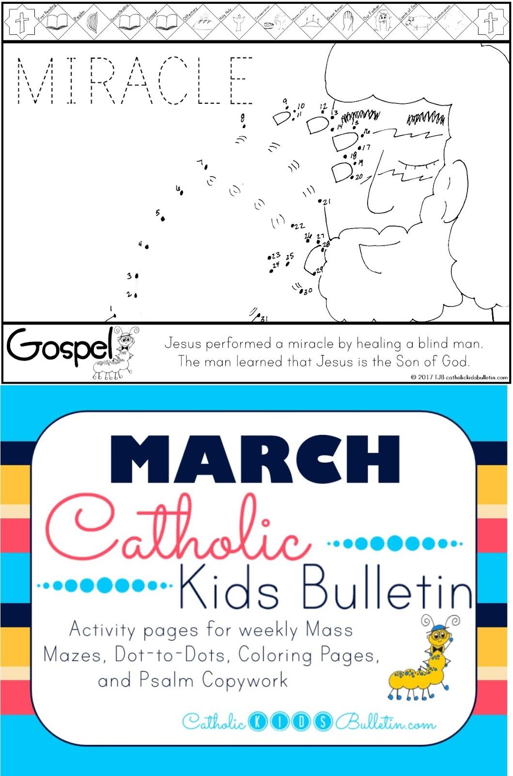 catholic kids march 2017 catholic kids bulletin