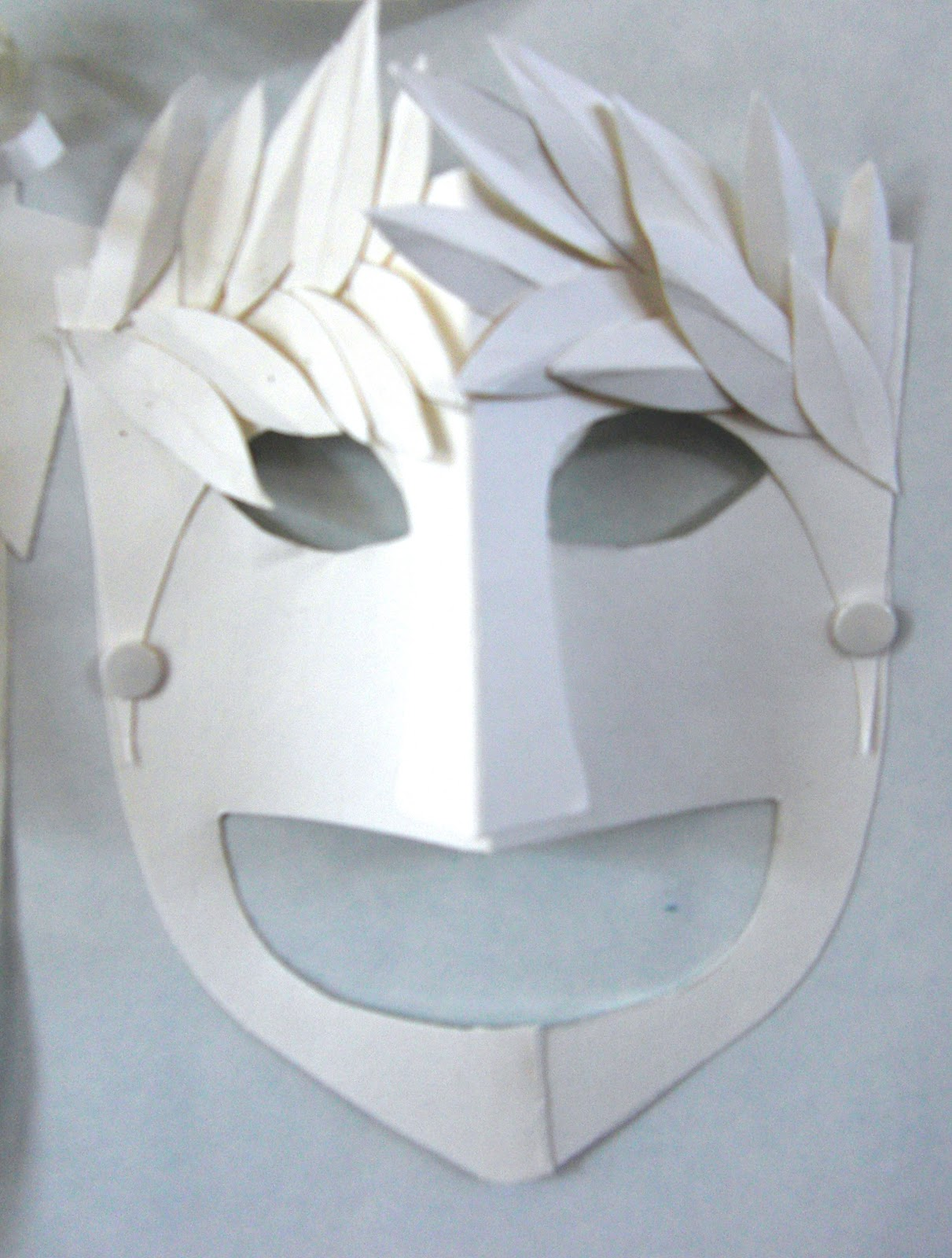 Mrs crosbie tragedy for Ancient greek mask template