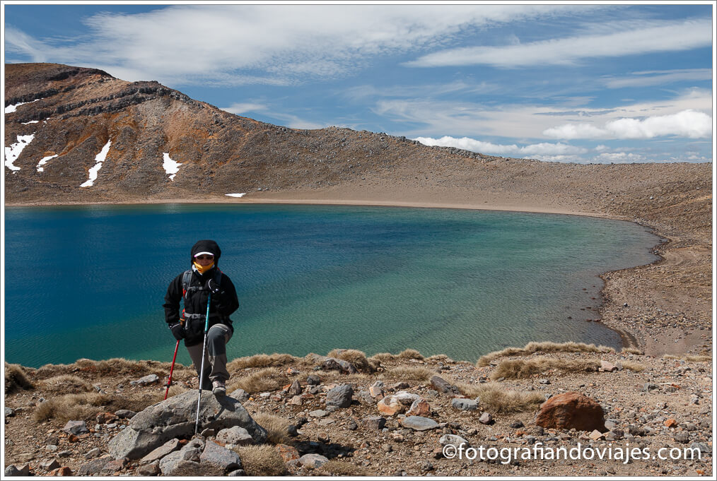 Blue lake en Tongariro Alpine Crossing