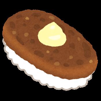 ハンバーグ寿司のイラスト(マヨネーズ)