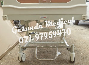 Central Lock Hospital Bed Pasien ABS