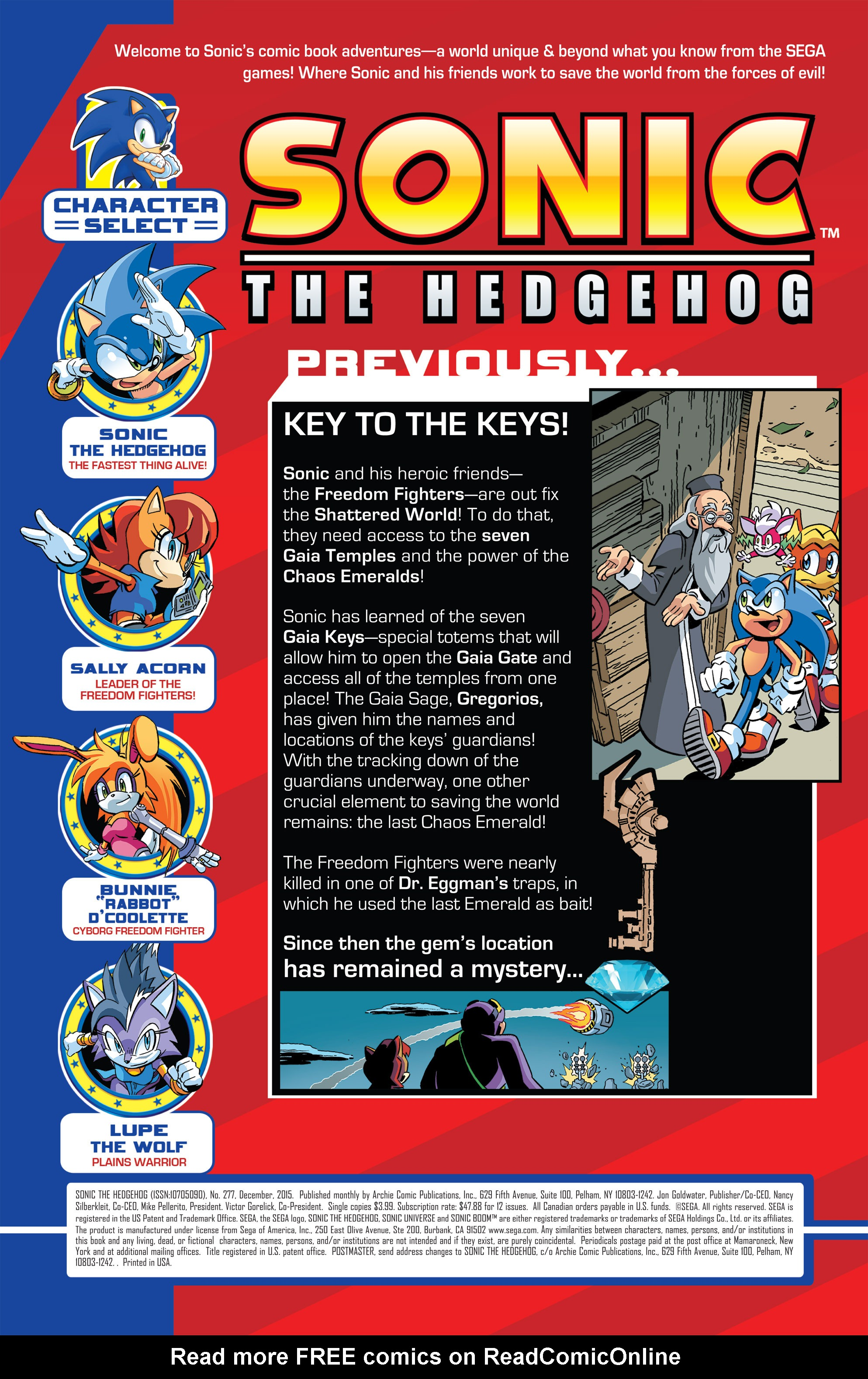 Read online Sonic The Hedgehog comic -  Issue #277 - 2