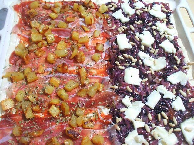 pizza radicchio e taleggio da cruda