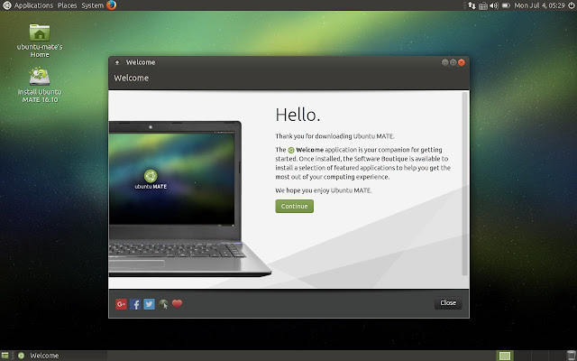Ubuntu MATE Welcome App