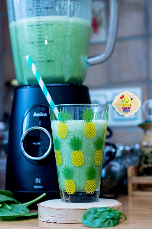Zielony koktajl + test blendera kielichowego Amica BTK5011 IN