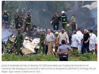 Presidente de Cuba se pronuncia sobre el accidente de avión