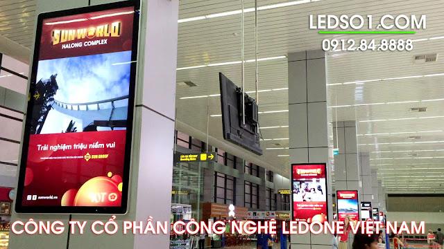 Màn hình quảng cáo tại sân bay Nội Bài 2