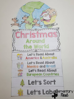 Christmas Around the World Flip Book- December Activities and primary resources plus three FREEBIES- fun ELA, math, and social studies activities for students during the month of December