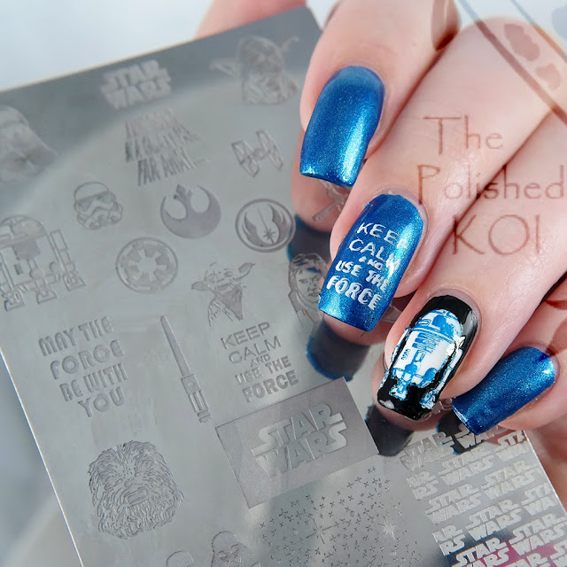 Esmaltes da Kelly R2-D2 Star Wars nail art