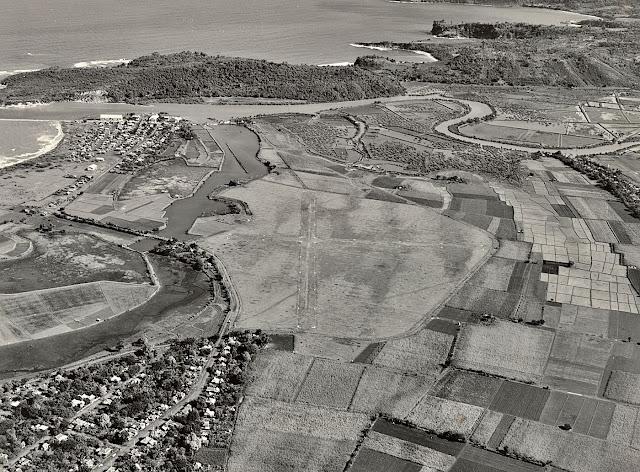 The Nasugbu airfield seen from above.  Image source:  United States National Archives.
