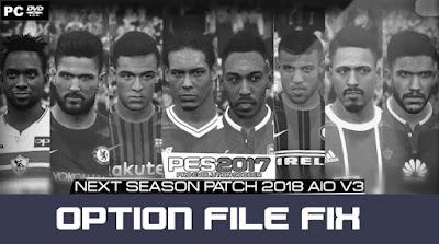 PES 2017 Next Season Patch 2017/2018 Option File FIX 05/03/2018