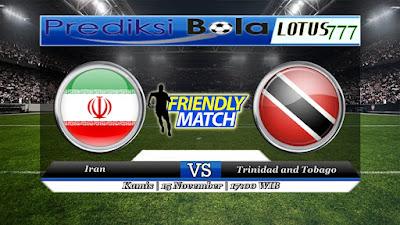 Prediksi pertandingan Iran VS Trinidad and Tobago 15 November 2018