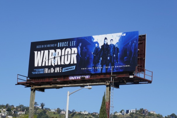 Warrior series premiere billboard