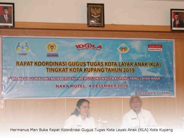 Hermanus Man Buka Rapat Koordinasi Gugus Tugas Kota Layak Anak (KLA) Kota Kupang