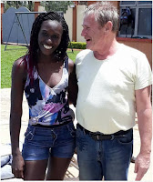 Can he even K@M? Kenyan LADY flaunts her ancestor like mzungu SPONSOR (PHOTOs).
