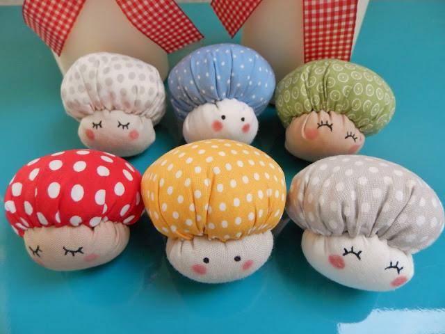 Coton et Création : champignons en tissu