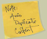 do not duplikat content