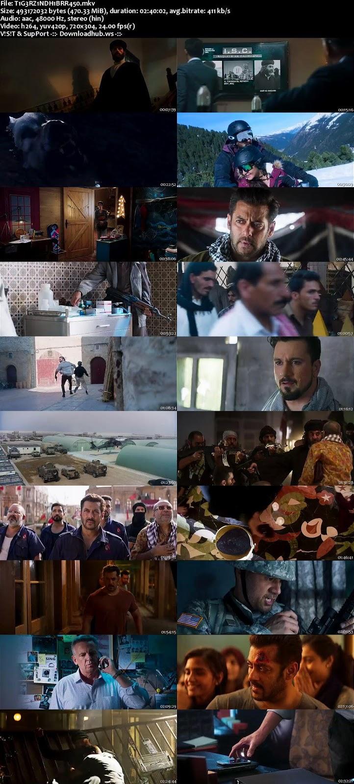 Tiger Zinda Hai 2017 Hindi 480p BluRay ESubs