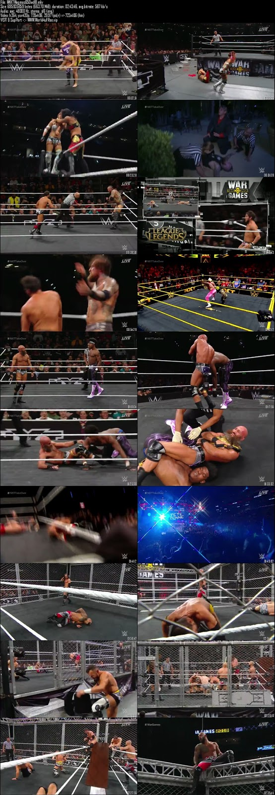 Wwe Nxt Takeover Wargames II 18 November 2018 Download tv show wwe Wwe Nxt Takeover Wargames 18 November 2018 HDTV 720p 300MB x264 compressed small size free download or watch online at world4ufree.fun