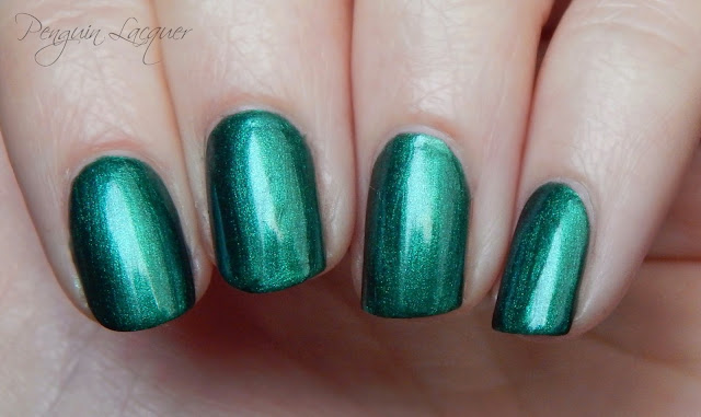 kiko nail lacquer 535 metallic british green nah