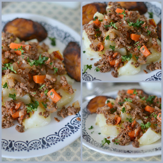Ground Beef and Vegetables with Garlic Seasoned Potatoes Recipe. Meat and potato comfort food just like your grandma made! This dinner is ready in 30 minutes and is so simple but so delicious! Budget friendly too!