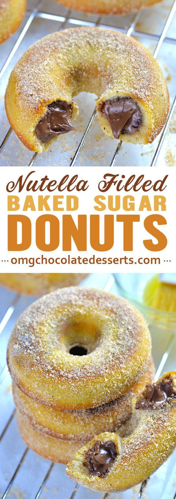 Nutella Filled Baked Donuts