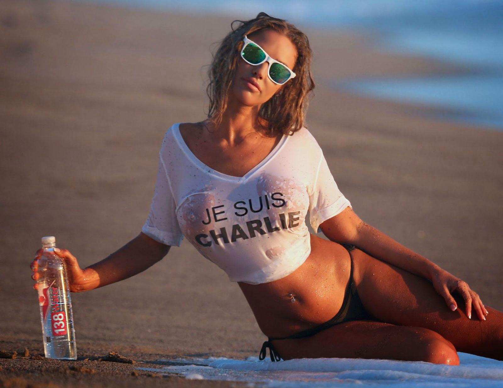 Bikini wet t shirt