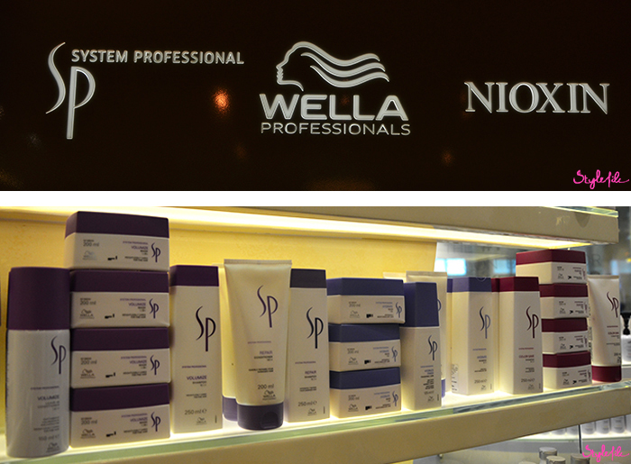 The range of SP System Professionals products used for the hair treatments by Wella Professionals at Jean Claude Biguine salon