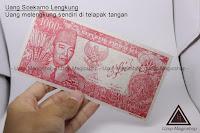 Jual Uang soekarno melengkung (Alat sulap)