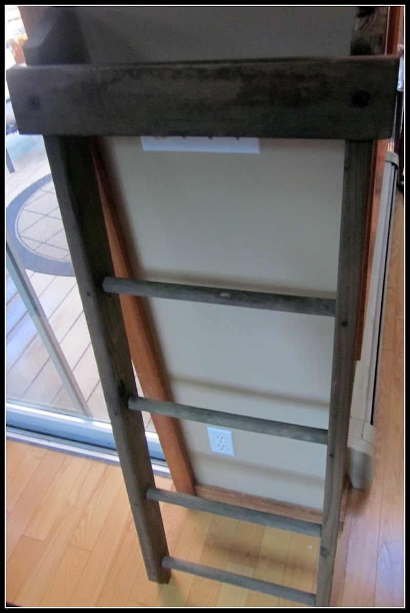 How to Make a Rustic Ladder Organizer