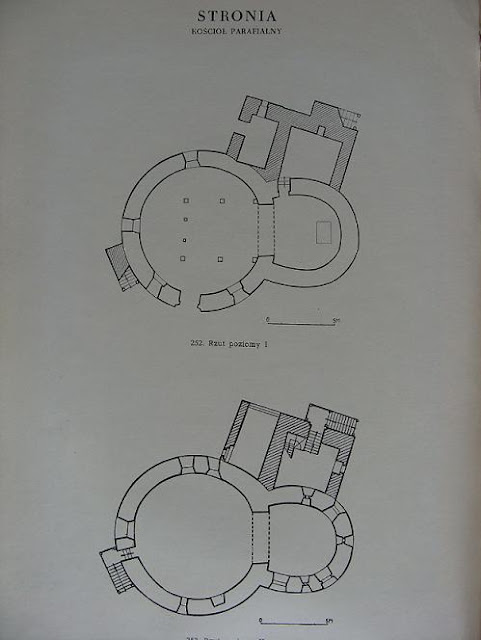 Późnoromańska rotunda (XIII wiek) w Stroni - rycina