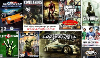 Highly Compressed pc rar Games
