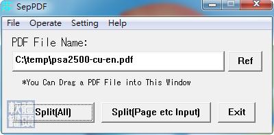 [下載] SepPDF v2.59 免費 免安裝 PDF 文件切割工具 - 軟體罐頭