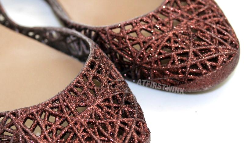 Melissa Campana zig zag - bronze/brown gold glitters
