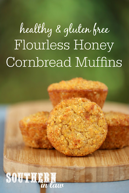 Healthy Flourless Honey Cornbread Muffins - gluten free, healthy, refined sugar free, dairy free, nut free, soy free, coconut flour, fluffy cornbread, clean eating recipes