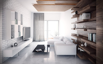 Gạch tường trắng – Hiệu ứng tổng thể những sắc màu