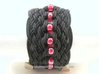 knotted paracord bracelet for men