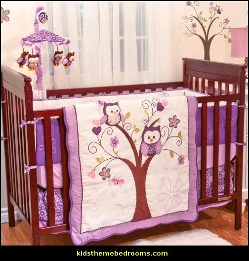 Owl Baby Bedding Owl Theme Nursery Decorating Ideas