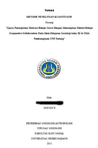 Contoh Proposal Penelitian Kuantitatif Penelitian Tindakan Kelas